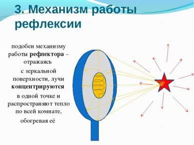 3. Механизм работы рефлексии подобен механизму работы рефлектора – отражаясь ...