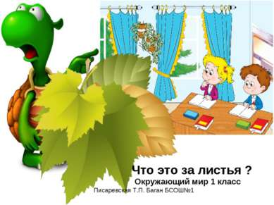 Что это за листья ? Окружающий мир 1 класс Писаревская Т.П. Баган БСОШ№1