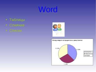 Word Таблицы Слияние Списки