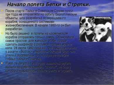 Начало полета Белки и Стрелки. После старта Лайки в Советском Союзе почти три...