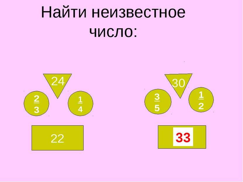 Найти неизвестное число: 22 24 1 4 ? 30 3 5 1 2 2 3 33