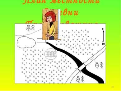 * План местности деревни Простоквашино