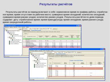 Результаты расчётов Результаты расчётов за период включают в себя: нормативно...