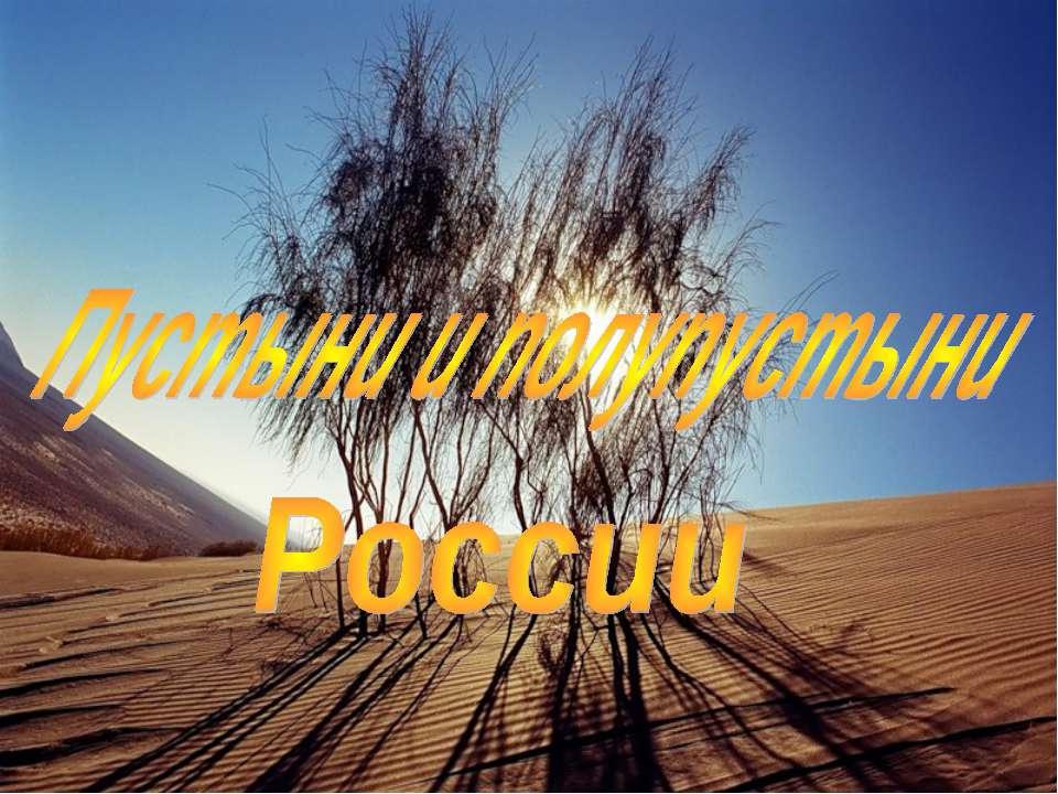 Презентация на тему пустыня