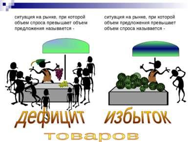 ситуация на рынке, при которой объем спроса превышает объем предложения назыв...