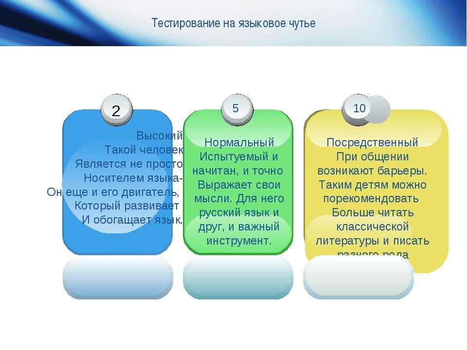 Тестирование на языковое чутье