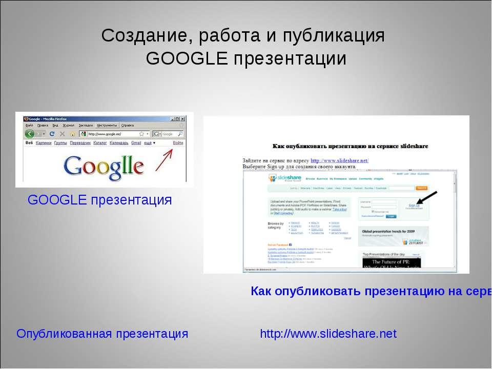 Как сделать гугл-презентацию