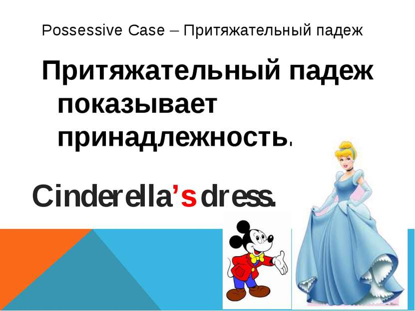 Possessive Case – Притяжательный падеж Притяжательный падеж показывает принад...