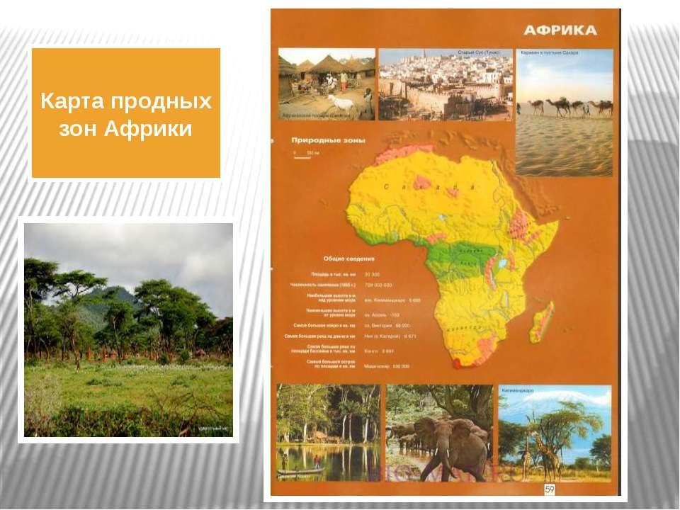 Карта продных зон Африки