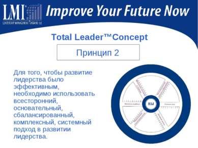 Total Leader™Concept Для того, чтобы развитие лидерства было эффективным, нео...