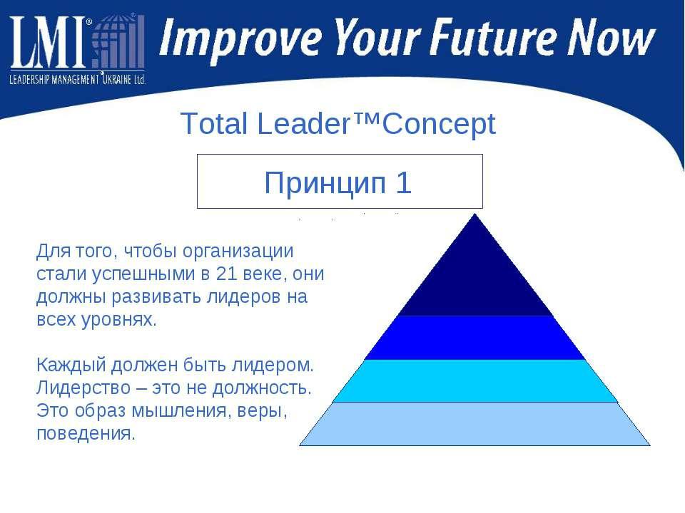 Для того, чтобы организации стали успешными в 21 веке, они должны развивать л...