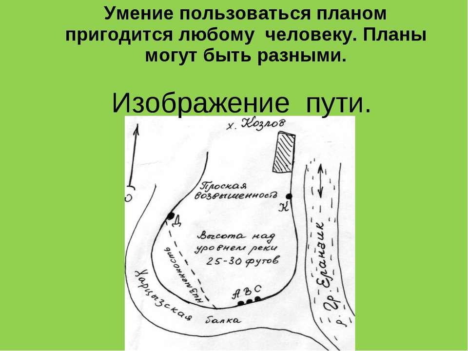 Умение пользоваться планом пригодится любому человеку. Планы могут быть разны...
