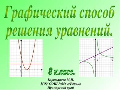 Каратанова М.Н. МОУ СОШ №256 г.Фокино Приморский край