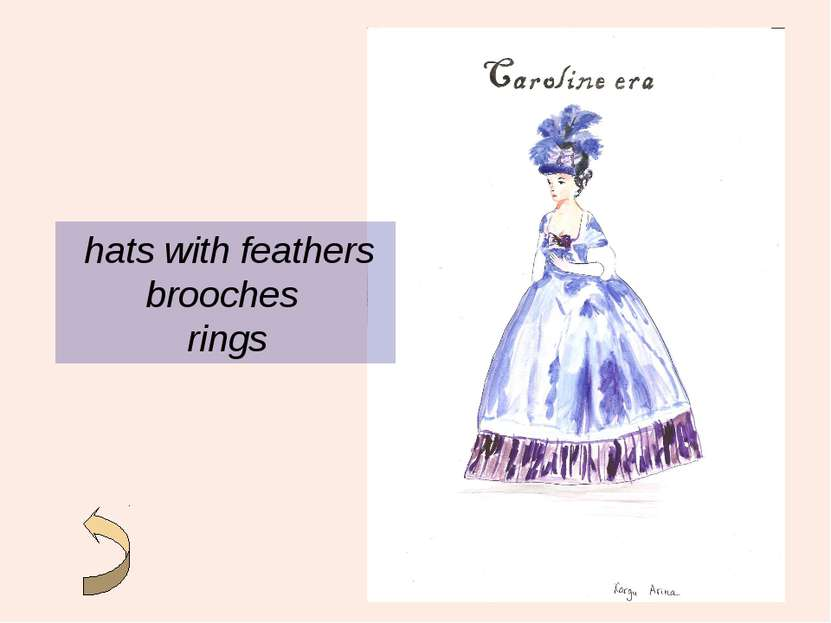 hats with feathers brooches rings