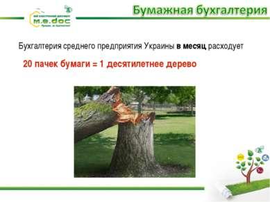 Бухгалтерия среднего предприятия Украины в месяц расходует 20 пачек бумаги = ...