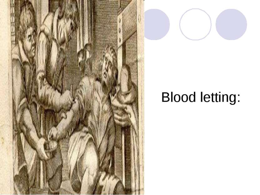 Blood letting: