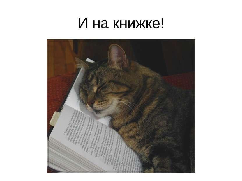 И на книжке!