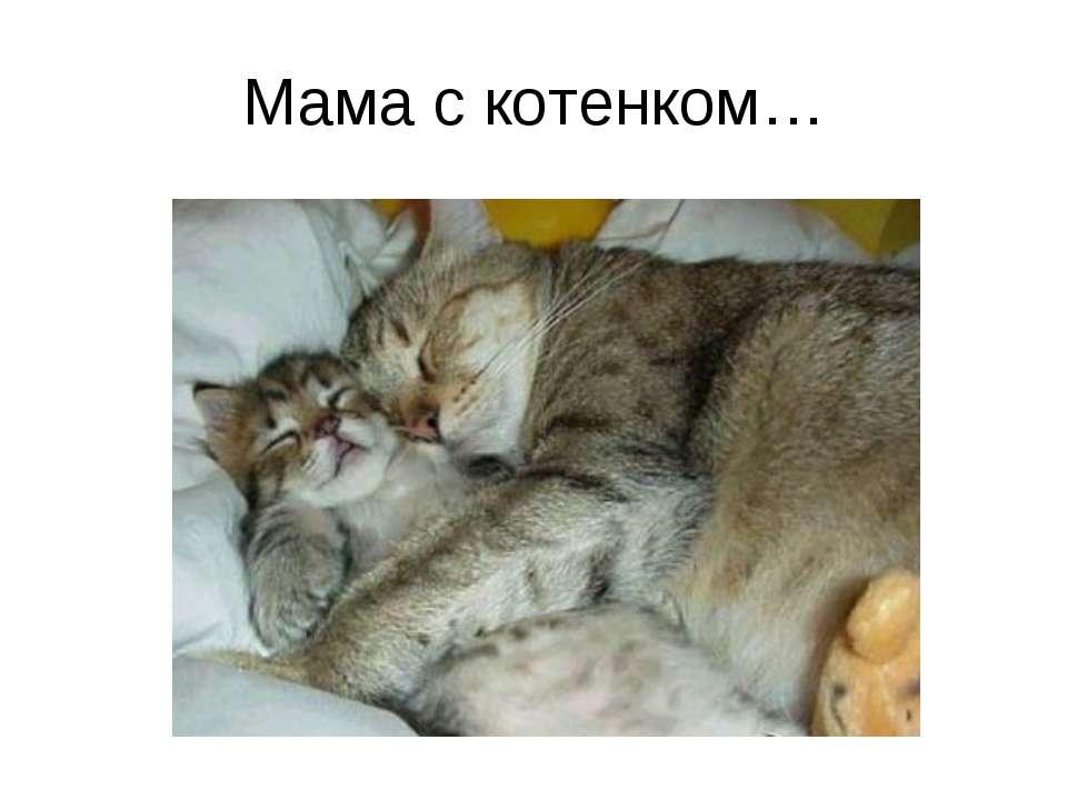 Мама с котенком…