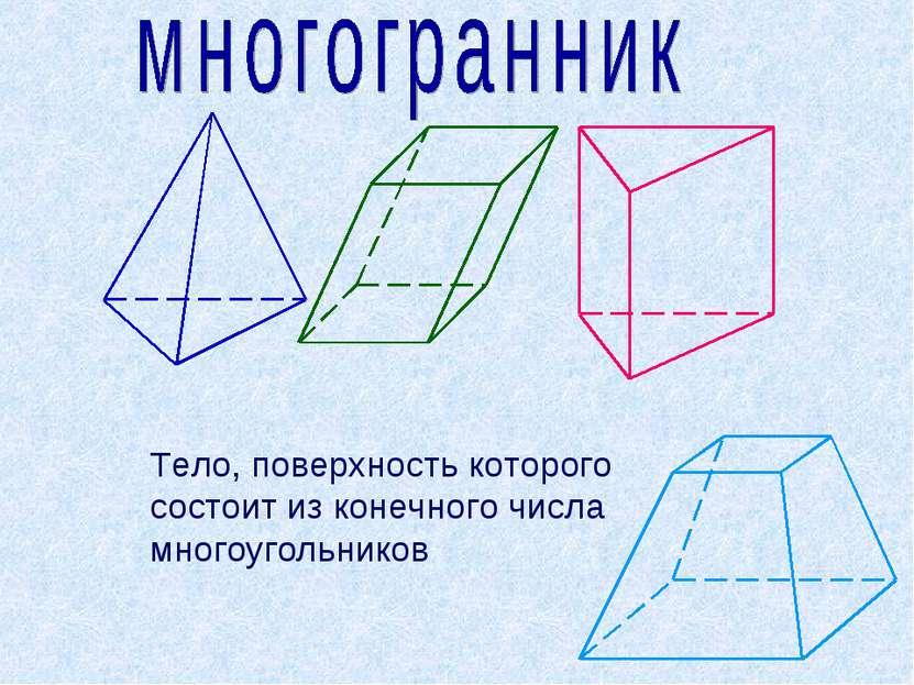 Что такое многогранник поверхность многогранника с рисунком
