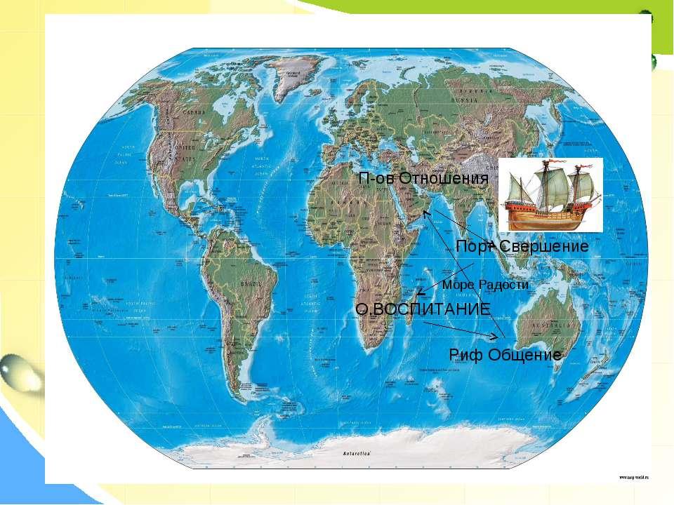 О.ВОСПИТАНИЕ Риф Общение П-ов Отношения Море Радости Порт Свершение
