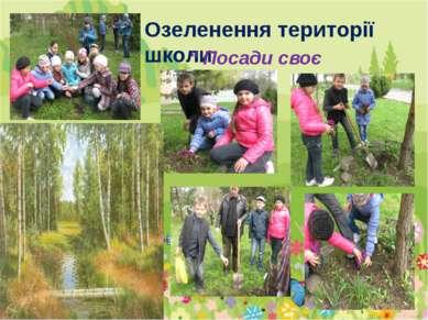 """Озеленення території школи """" Посади своє деревце"""""""