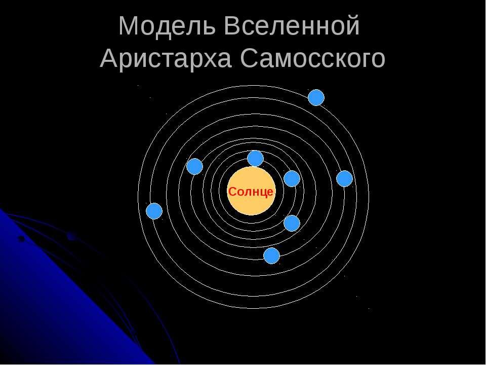 Модель Вселенной Аристарха Самосского Солнце