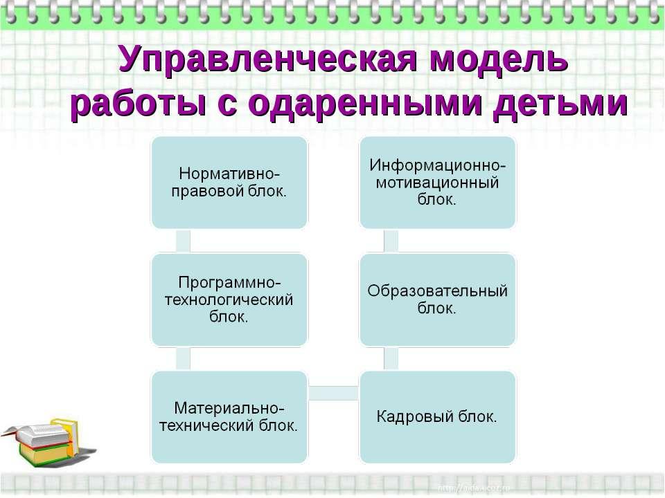 Управленческая модель работы с одаренными детьми