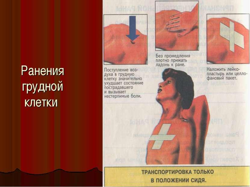 Ранения грудной клетки