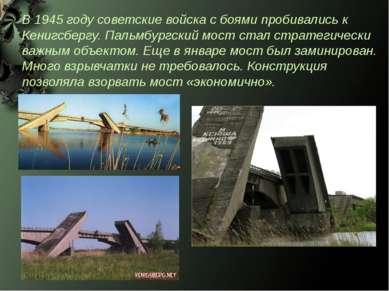 В 1945 году советские войска с боями пробивались к Кенигсбергу. Пальмбургский...