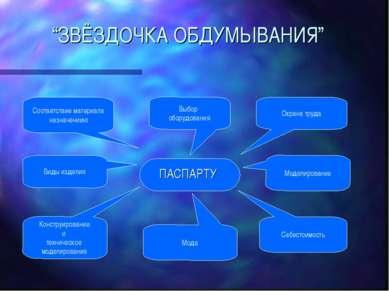 """""""ЗВЁЗДОЧКА ОБДУМЫВАНИЯ"""" ПАСПАРТУ Конструирование и техническое моделирование ..."""