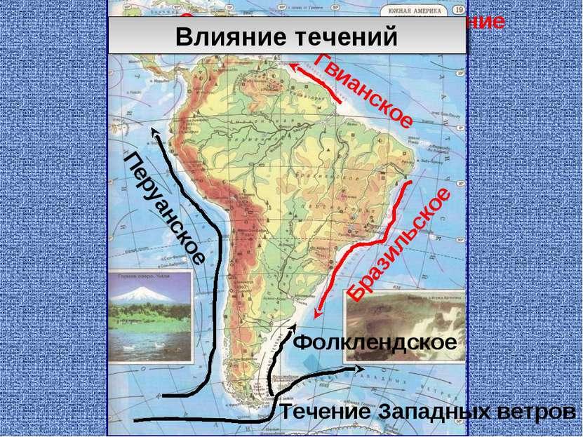Гвианское Бразильское Перуанское Фолклендское Течение Западных ветров Северно...