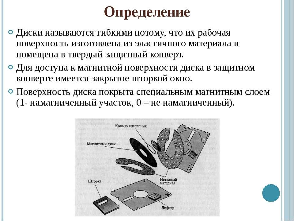 Определение Диски называются гибкими потому, что их рабочая поверхность изгот...