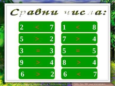 2 7 1 8 5 2 3 3 9 4 6 2 < 7 4 5 5 8 4 6 7 < > = > < > = > > Лазарева Лидия Ан...