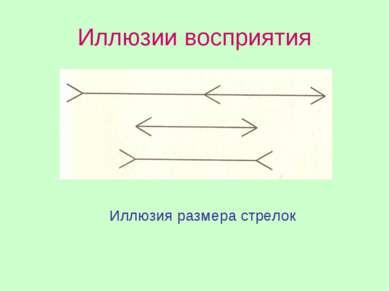 Иллюзии восприятия Иллюзия размера стрелок