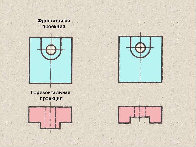 Фронтальная проекция Горизонтальная проекция