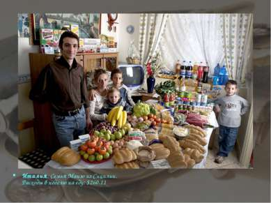 Италия. Семья Манзо из Сицилии. Расходы в неделю на еду: $260.11