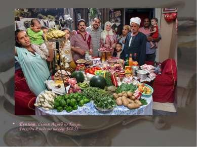Египет. Семья Ахмед из Каира. Расходы в неделю на еду: $68.53