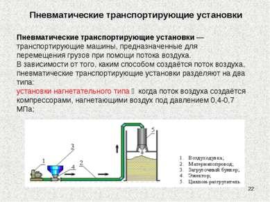 * Пневматические транспортирующие установки Пневматические транспортирующие у...