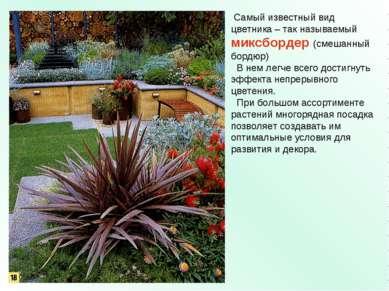 Самый известный вид цветника – так называемый миксбордер (смешанный бордюр) В...