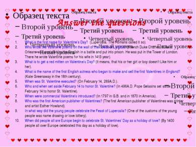What is the first name for Valentine's Day? (Lupercalia. The Romans called it...
