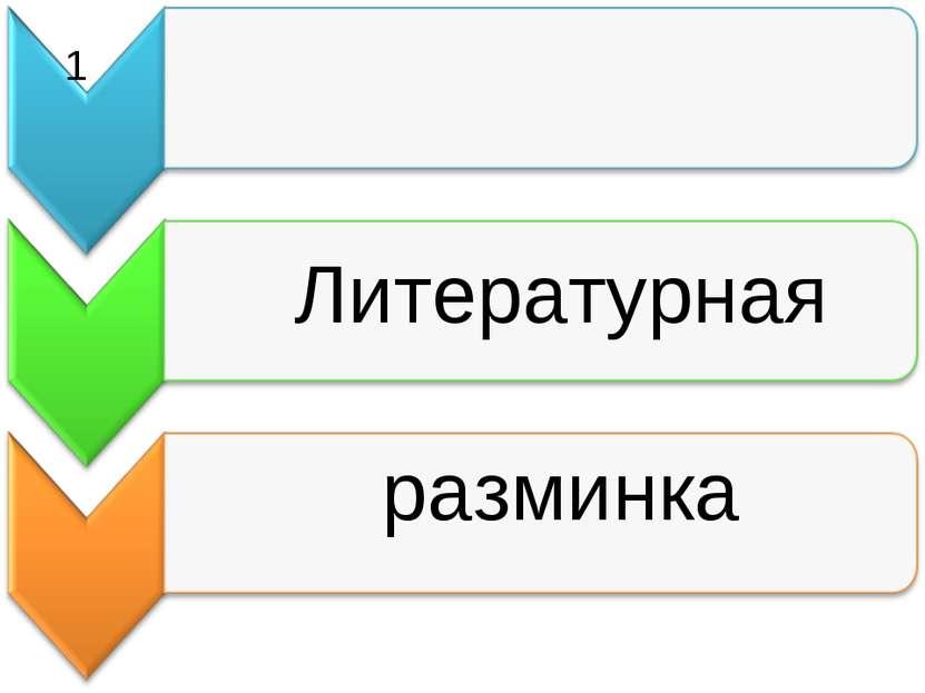 Литературная разминка 1