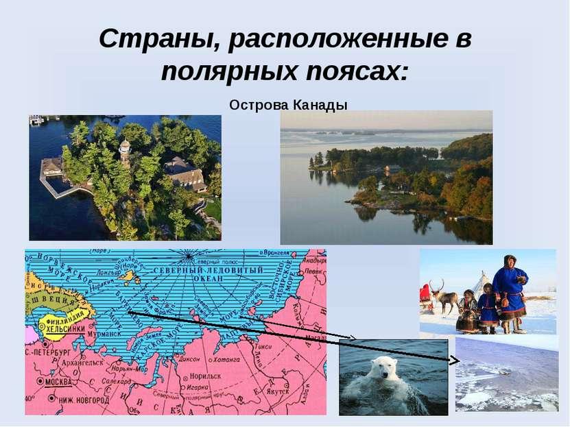 Страны, расположенные в полярных поясах: Острова Канады