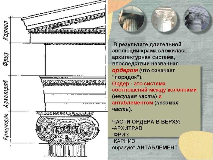 В результате длительной эволюции храма сложилась архитектурная система, впосл...