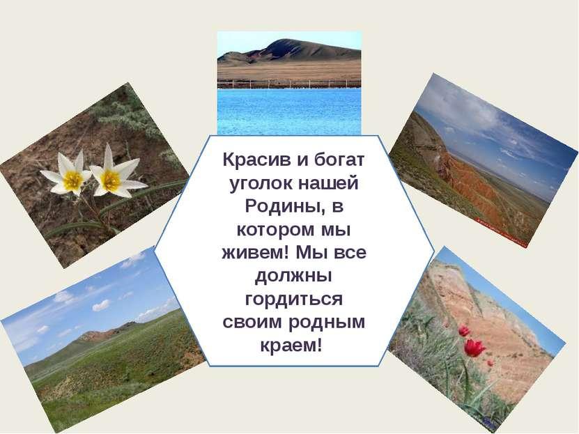 Красив и богат уголок нашей Родины, в котором мы живем! Мы все должны гордить...