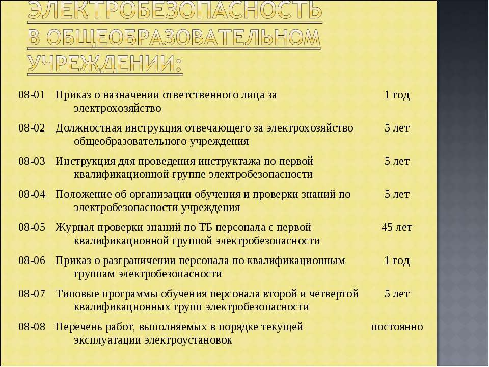 08-01 Приказ о назначении ответственного лица за электрохозяйство 1 год 08-02...