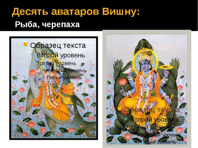 Десять аватаров Вишну: Рыба, черепаха