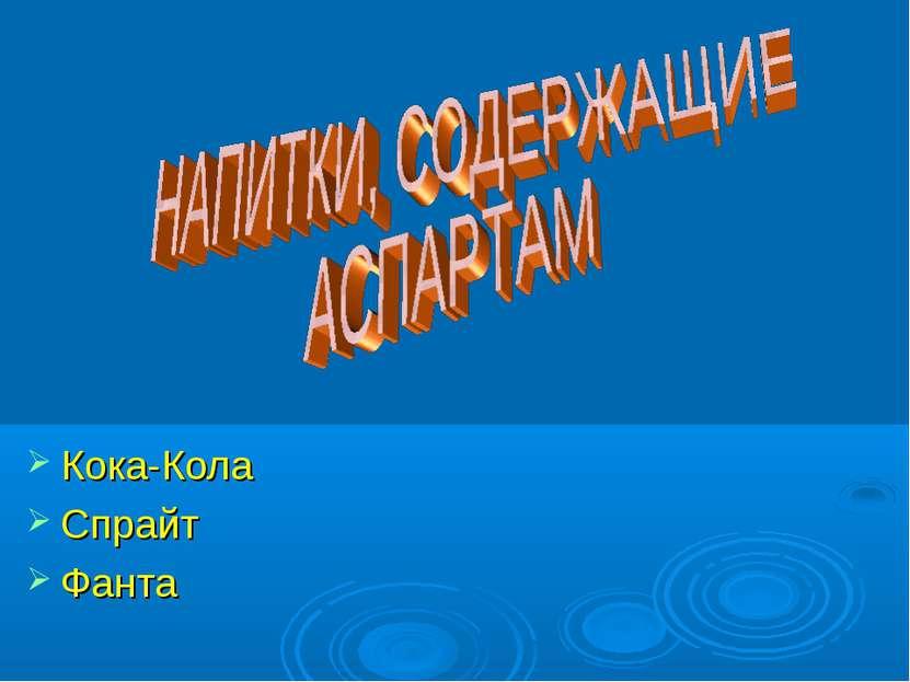 Кока-Кола Спрайт Фанта