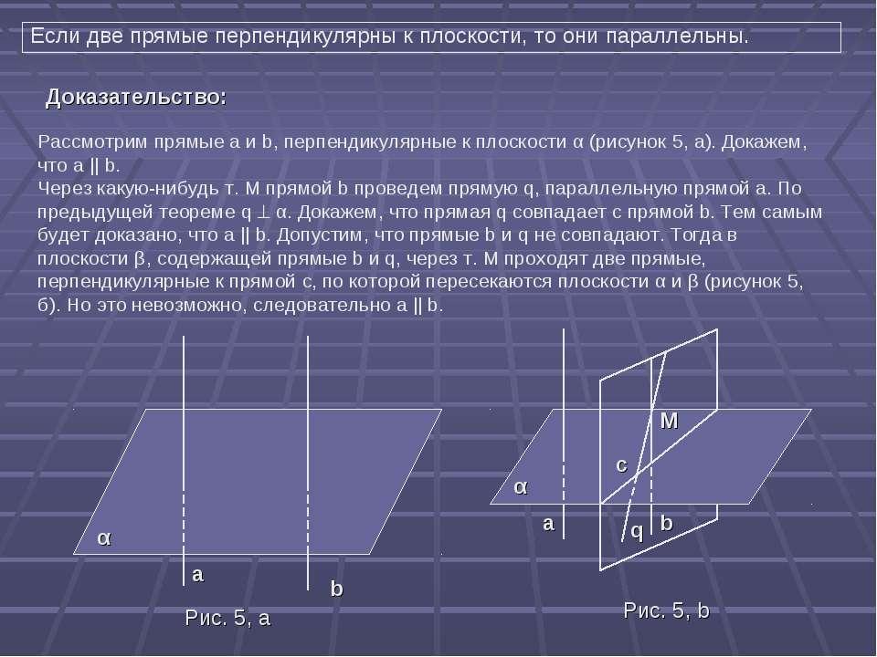 Если две прямые перпендикулярны к плоскости, то они параллельны. Рассмотрим п...