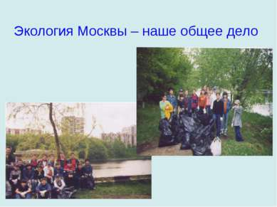 Экология Москвы – наше общее дело