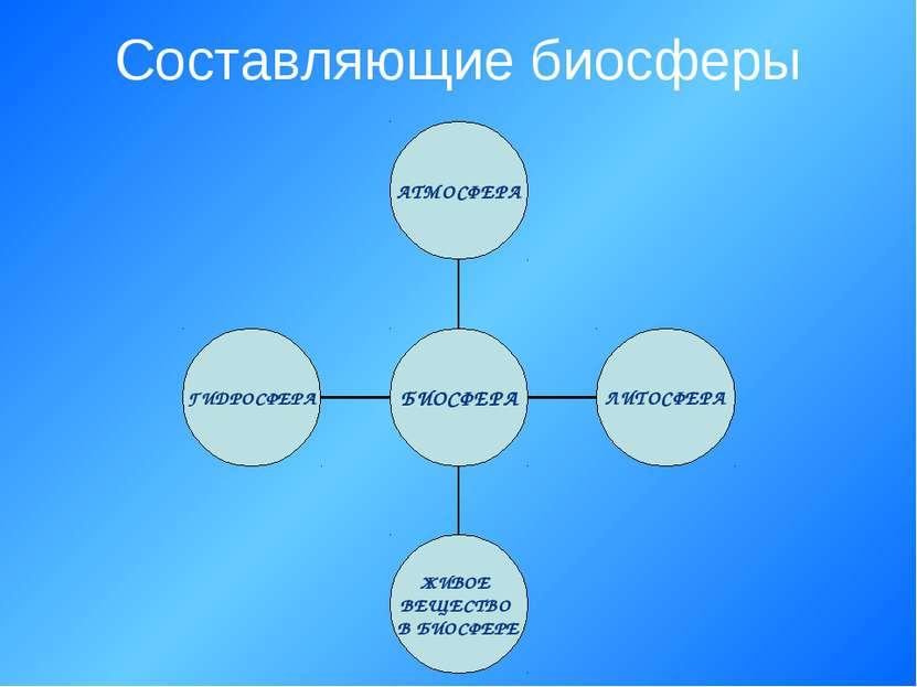 Составляющие биосферы